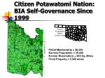 citizen potawatomi nation bia self governance since 1999