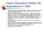 citizen potawatomi nation sg negotiations in 1999