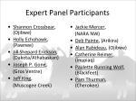 expert panel participants