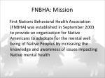 fnbha mission