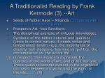 a traditionalist reading by frank kermode 3 art