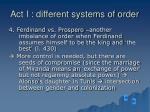 act i different systems of order13