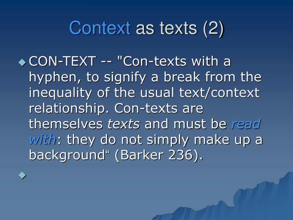contextual relationships