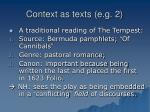 context as texts e g 2