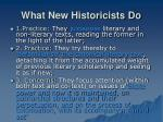 what new historicists do