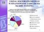 udzia sektora bankowgo w finansowaniu zad u enia skarbu pa stwa