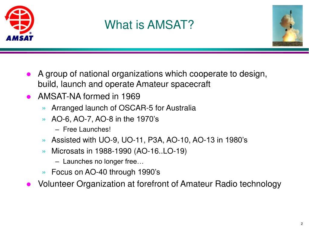 What is AMSAT?