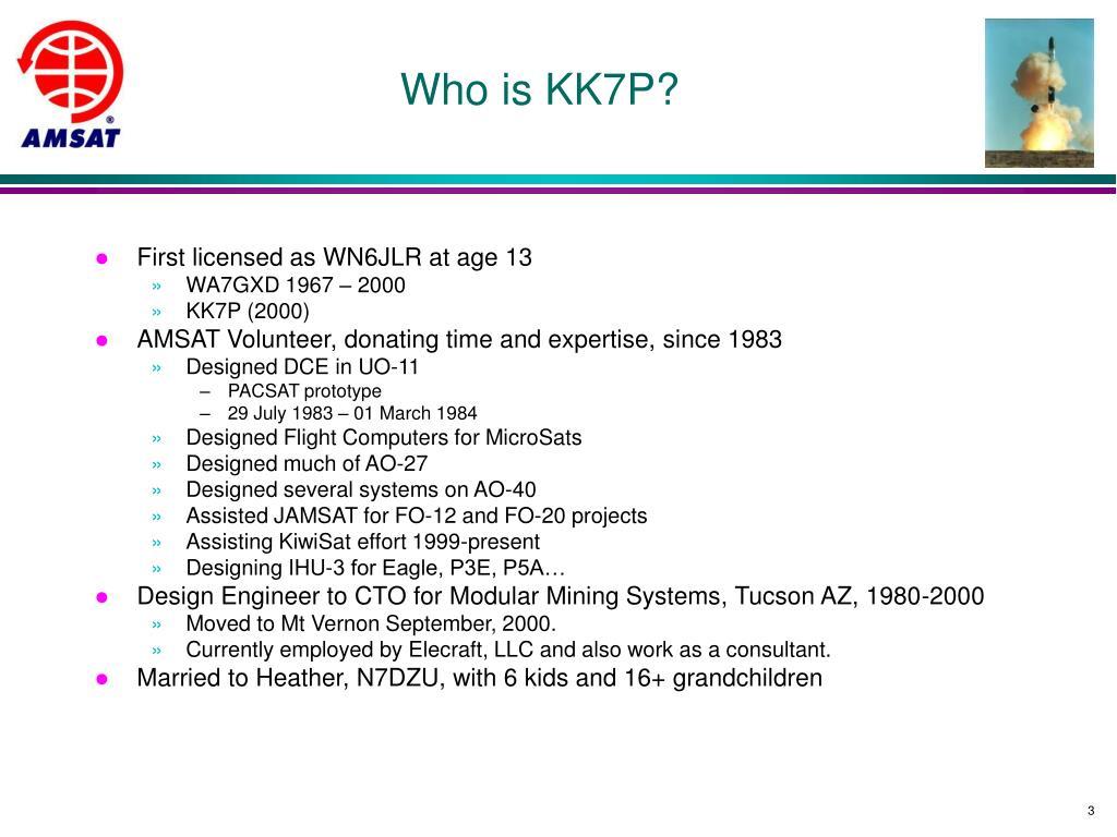 Who is KK7P?