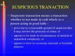 suspicious tranaction