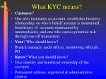 what kyc means