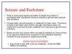seizure and forfeiture
