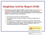 suspicious activity report sar
