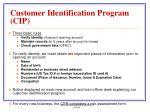 customer identification program cip