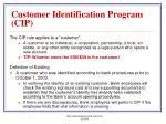 customer identification program cip7