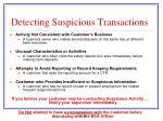detecting suspicious transactions