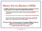 money service business msb