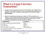what is a large currency transaction