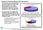 analysis of scenario based lda calculations