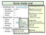 acne meds oral