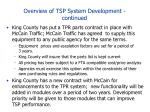 overview of tsp system development continued31