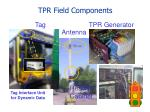 tpr field components