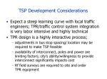 tsp development considerations