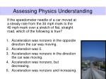 assessing physics understanding24