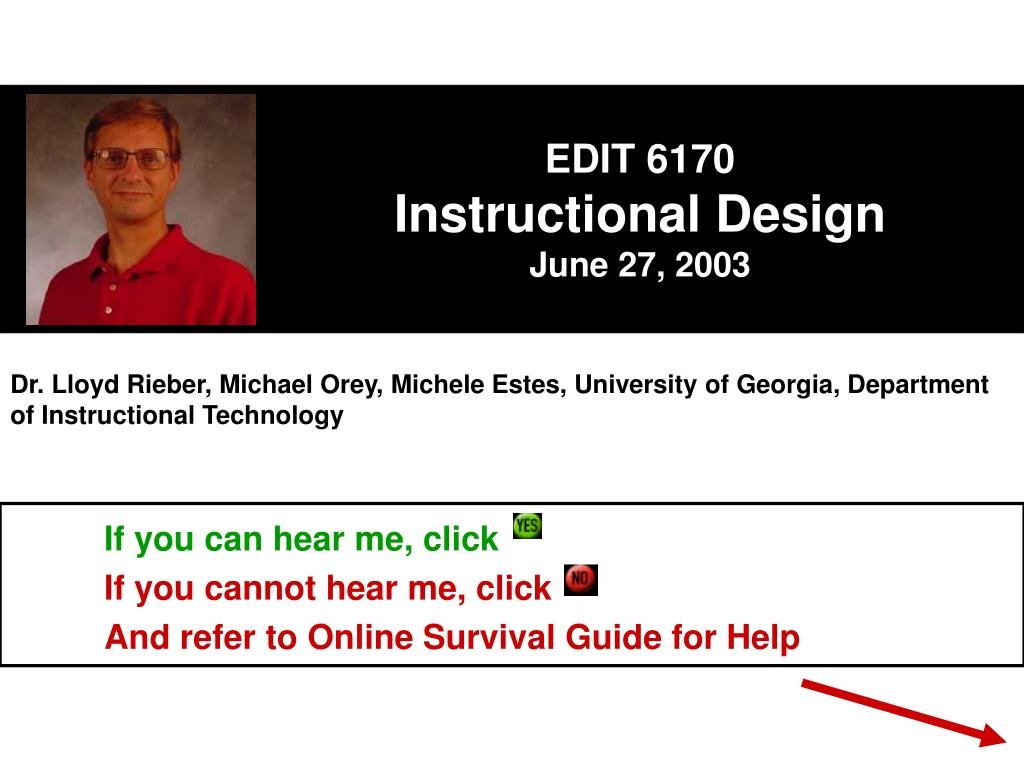 edit 6170 instructional design june 27 2003 l.