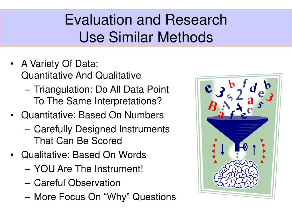 Evaluation and Research