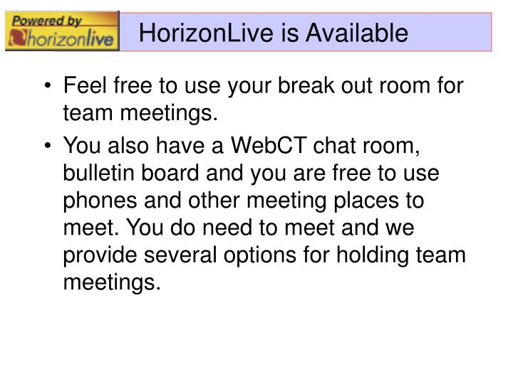 Horizonlive is available