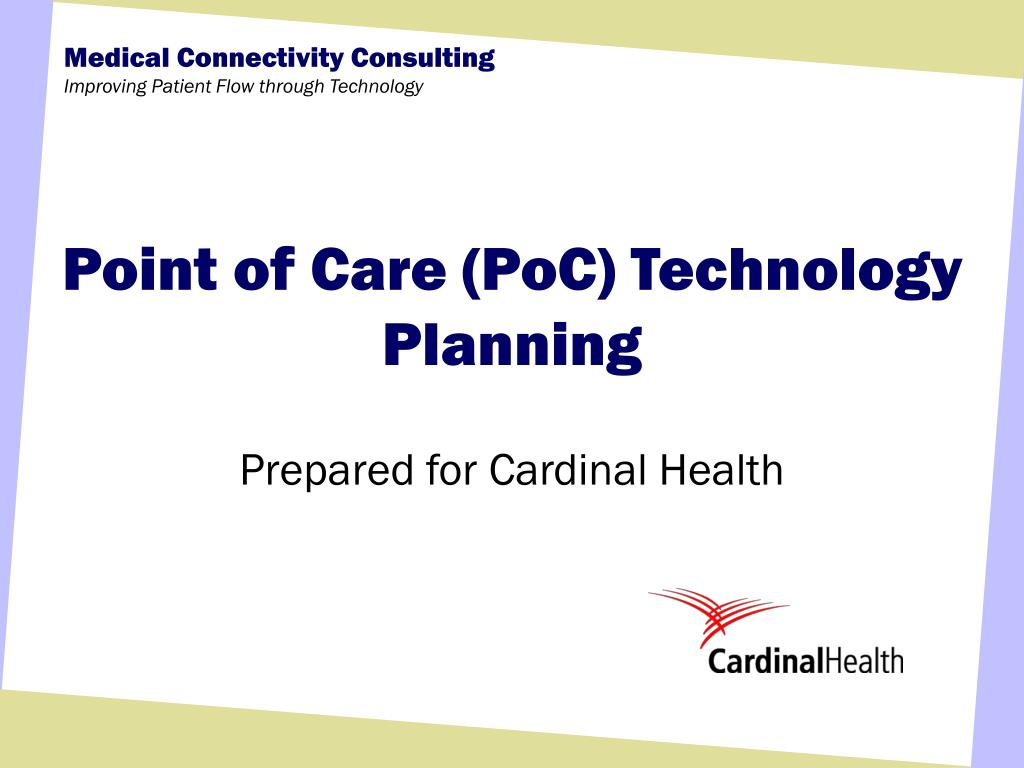 point of care poc technology planning l.