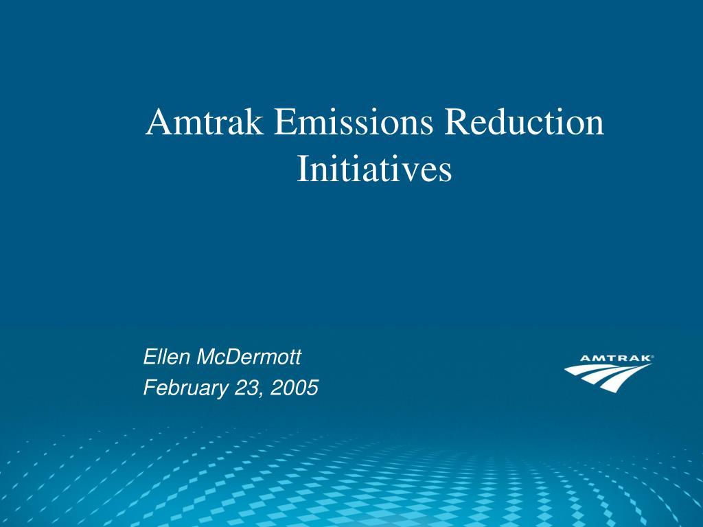 amtrak emissions reduction initiatives l.