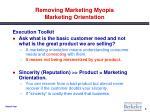removing marketing myopia marketing orientation