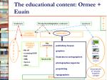 the educational content ormee euain