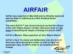 airfair mission statement