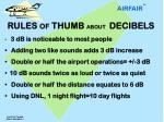 rules of thumb about decibels 1