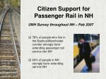 citizen support for passenger rail in nh