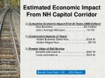 estimated economic impact from nh capitol corridor