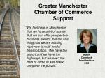 greater manchester chamber of commerce support