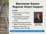 manchester boston regional airport support