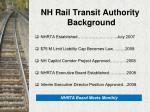 nh rail transit authority background