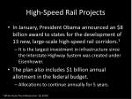 high speed rail projects