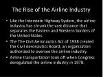 the rise of the airline industry