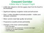 crescent corridor a better way to transport freight
