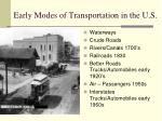 early modes of transportation in the u s