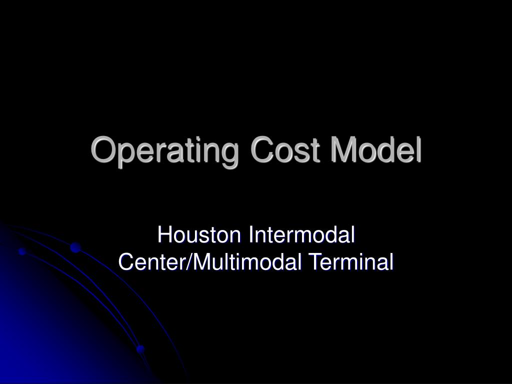operating cost model l.