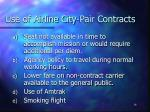 use of airline city pair contracts
