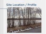 site location profile
