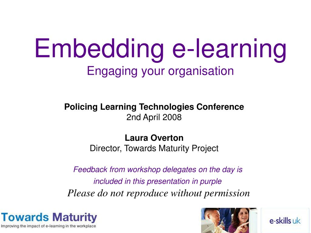 embedding e learning engaging your organisation l.
