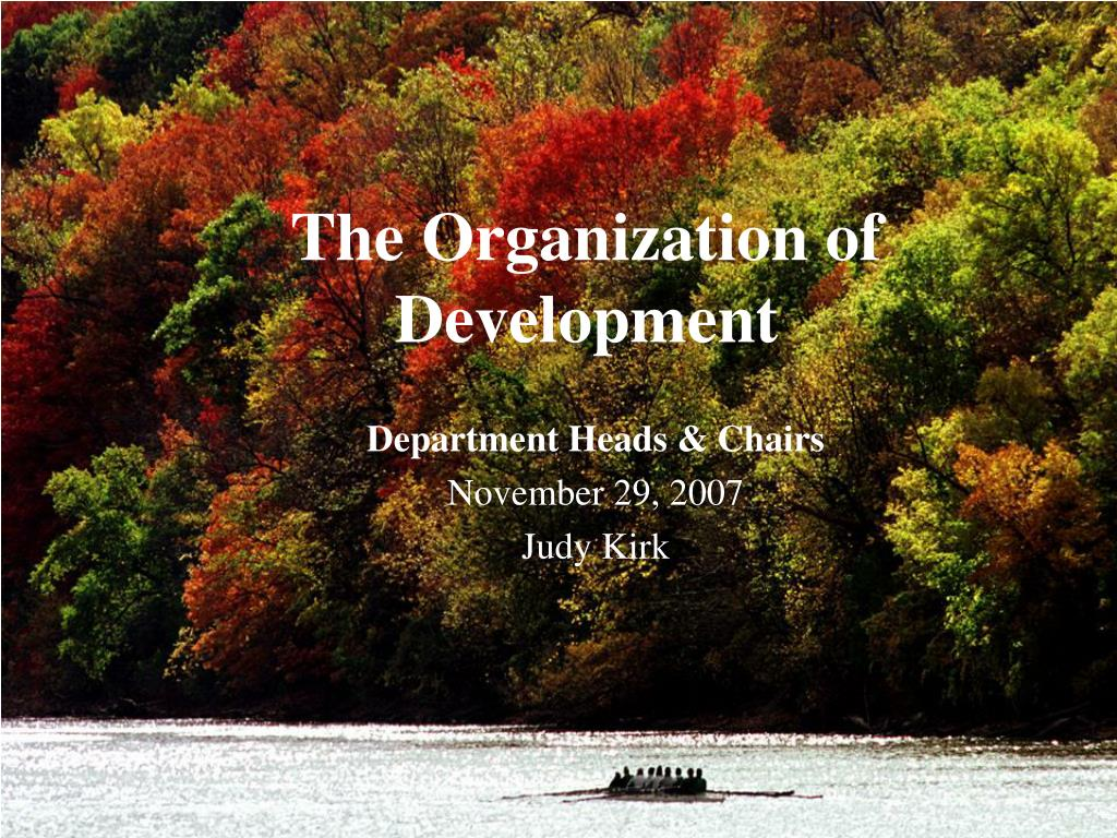 the organization of development l.